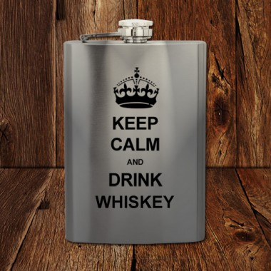 Heupfles Keep Calm and Drink Whiskey